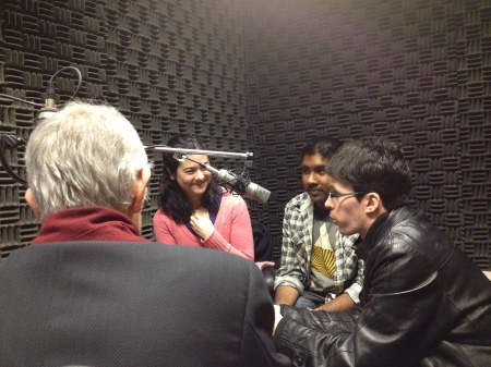 Ira Nadel interviews Carolyn Nakagawa, Jason Deo and Keenan Johnston of the UBC Players Club.