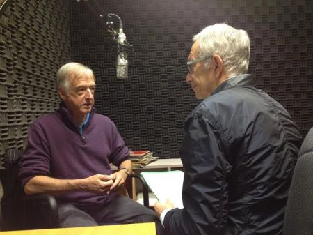 Director Stephen Heatley in the studio with Ira days before opening night.